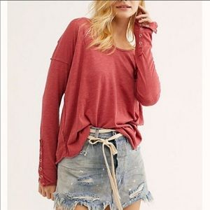 NWT Free People Flor De Mayo Long Sleeve Top